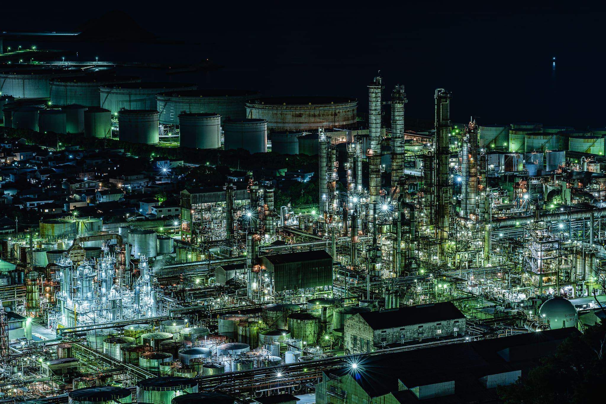 【lightroom】工場夜景レタッチ ホワイトバランス