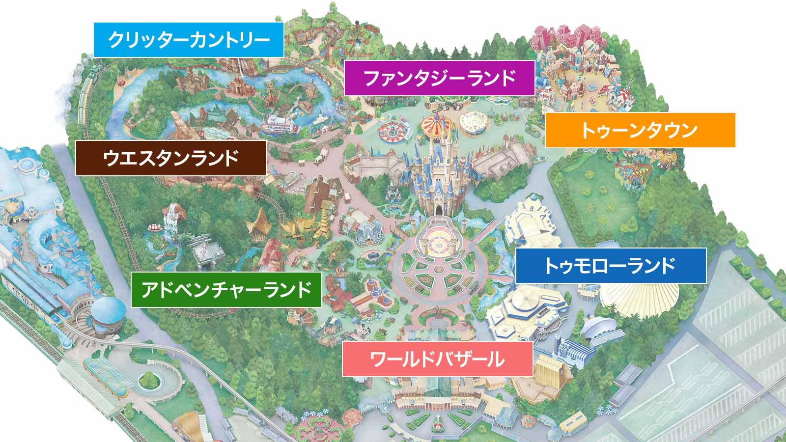 ディズニー撮影 地図