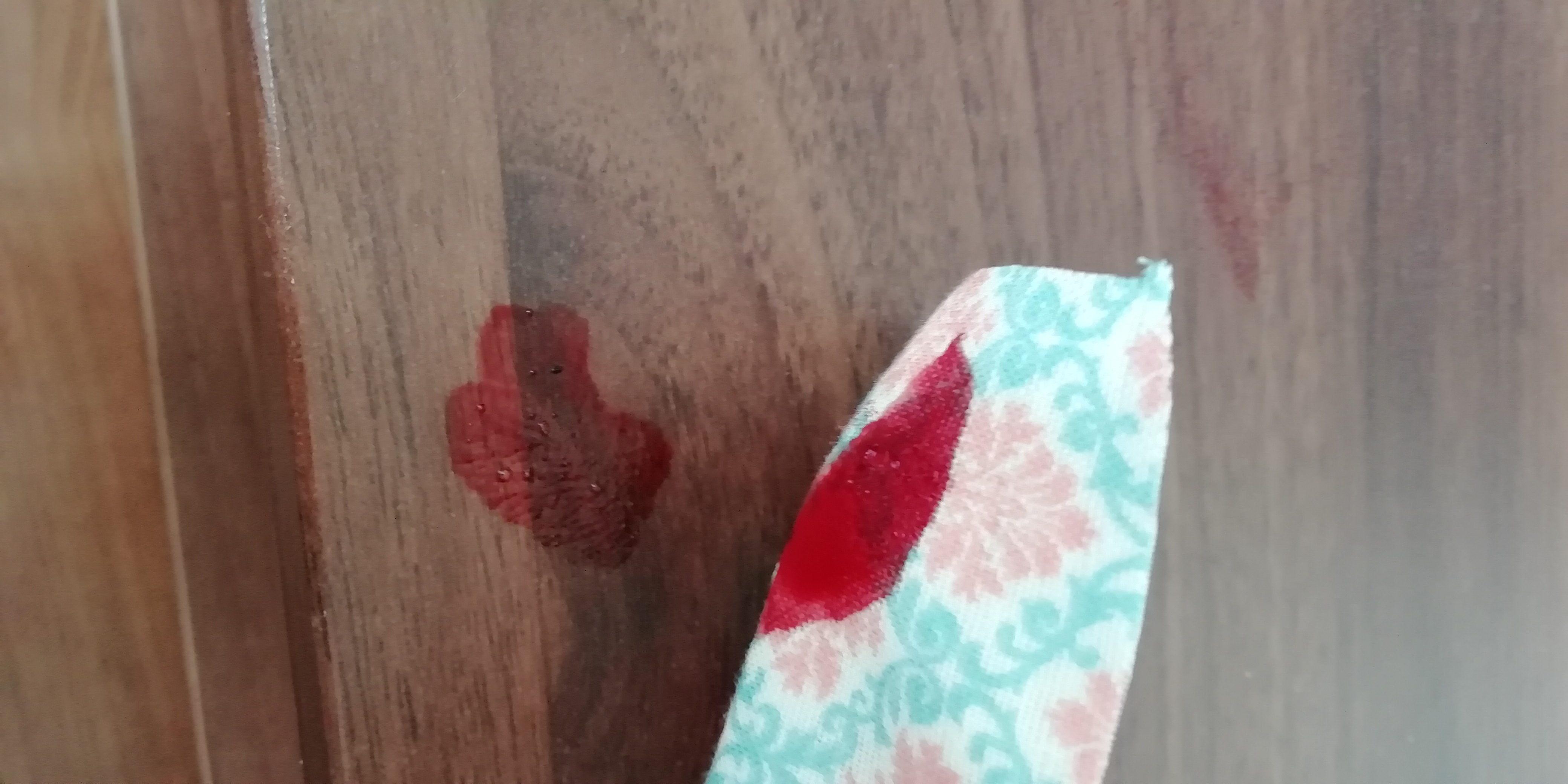 コスプレ簡単血糊 布には不向き ②
