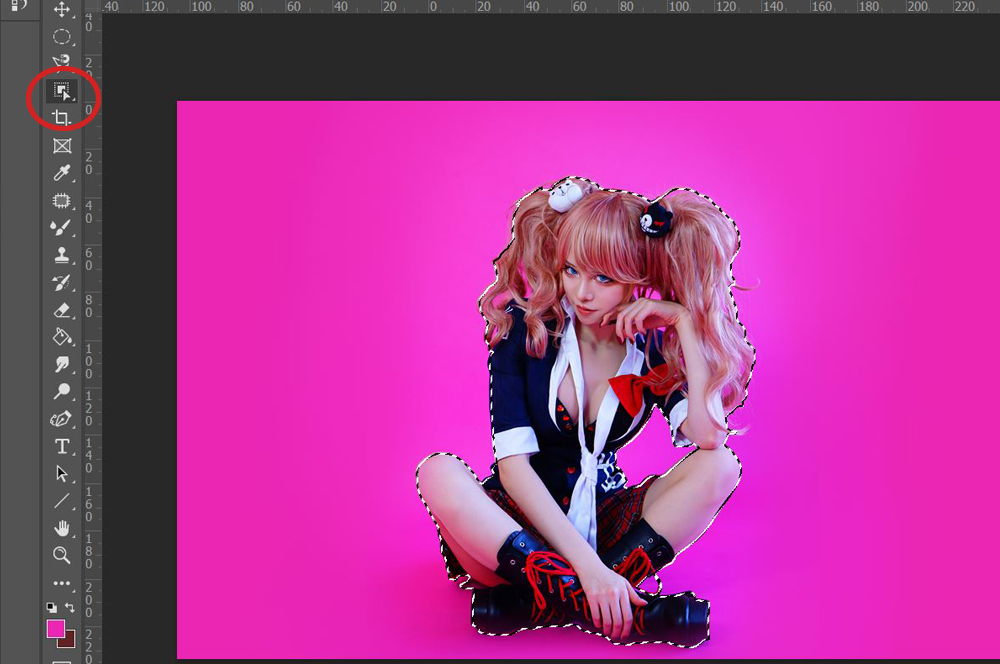 【Photoshop コスプレレタッチ 背景編】3-1 オブジェクト選択ツール