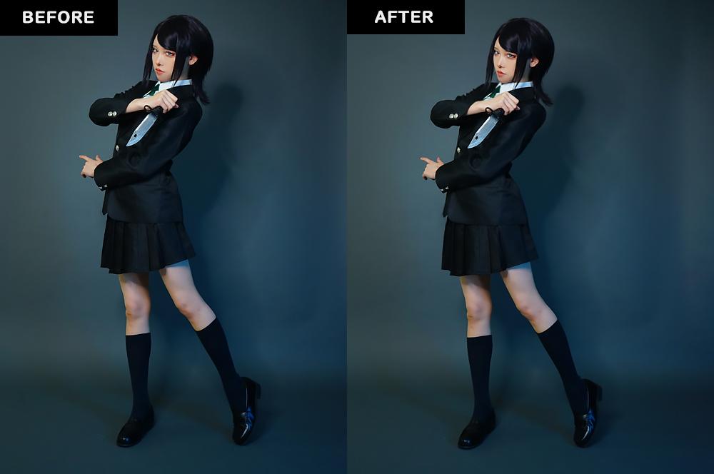 Photoshop【変形】①ゆがみフィルター 加工後